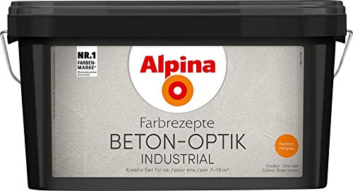 Alpina Farbrezepte Beton-Optik Industrial Kreativ-Set
