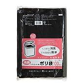 ケミカルジャパン ごみ袋 ポリ袋 消臭 黒 横30cm 縦40cm 厚さ0.02㎜ 100枚 トイレコーナー用 中身が見えない 角型・丸型ゴミ箱対応 環境にやさしい素材 TP-100