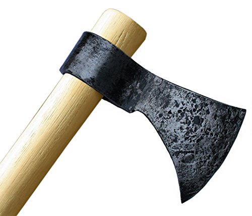 Throwing Axe - Win Your Next Viking Throwing Tomahawk Competition! 19' Hand Forged Hatchet from High Carbon Steel, NMLRA Approved, 100% Guaranteed from Defects (Antiqued)