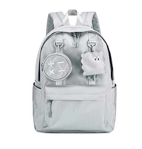 Joymoze Fashion Koreanischer Rucksack für Frauen Mädchen Reisen Tagesrucksack Passend für 14 Zoll Laptop Grau
