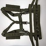 Vioaplem Militar Chaleco táctico de Airsoft Molle Sistema de Perfil Bajo Pecho Rig extraíble Honda del Arma de Caza de Airsoft Paintball Gear Airsoft Chalecos tácticos (Color : Green)