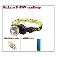 ミニLED USBヘッドランプ充電式ボディモーションセンサーヘッドランプ防水強力な懐中電灯ヘッドトーチ屋外ランプライト (色 : Package B)