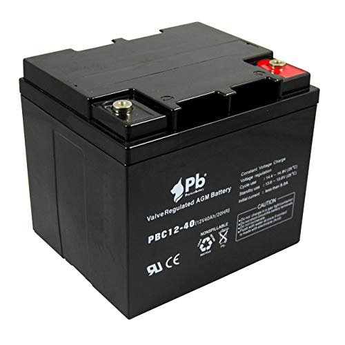 Premiumbattery Batería AGM Ciclo Profundo 12V 40Ah FullC12-40