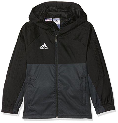 adidas Kinder Regenjacke Tiro 17, Black/Dark Grey/White, 128, AY2888