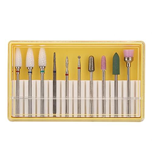 Accesorio para máquina de pulir de manicura, 10 Uds, Juego de brocas para uñas, máquina pulidora de uñas, repuestos(Grinding head set BH-01)