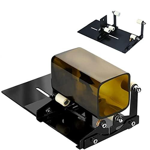 Botella de vidrio DIY Máquina Botellas de vino profesional DIY Herramienta de artesanía con accesorios, 19pcs Corte limpio