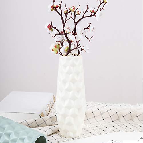 123 Vasi in plastica per fiori, durevole e moderno vaso decorativo per soggiorno, ufficio, matrimonio, centrotavola o regalo