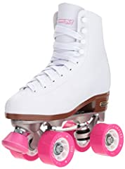 Classic quad skate: featuring traditional High top profile rink pattern boot to support your ankles. Easy lacing system including eyelets and speed hooks to adjust the fit as you go. Double adjustable: aluminum base plate with double adjustable truck...