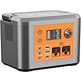 Portable Power Station 350W,Solar Generator 296Wh/80000mAh Lithium Battery Portable Charging Station,Wireless Charging 10W Max,Pure Sine Wave AC Outlet,USB-C Port for Outdoors Camping RV Emergency