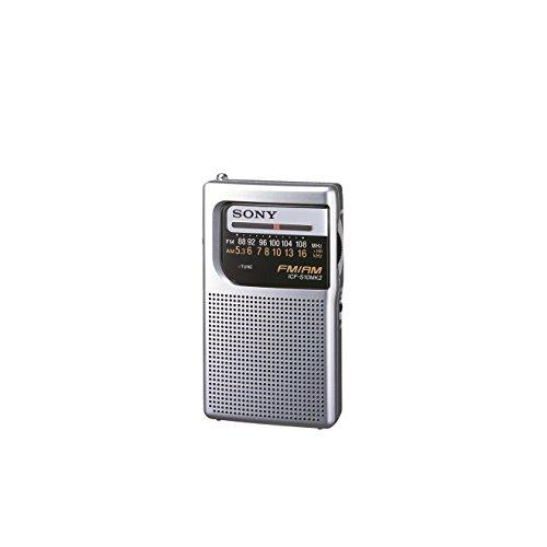 Sony ICFS10MK2S - Radio portátil FM/AM, color plateado