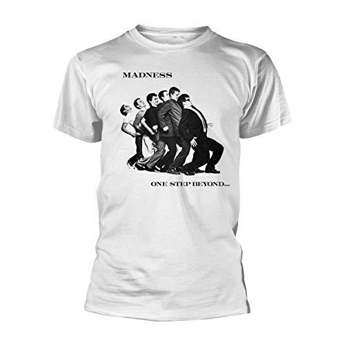 Madness One Step Beyond Suggs White Ska offiziell Männer T-Shirt Herren (X-Large)