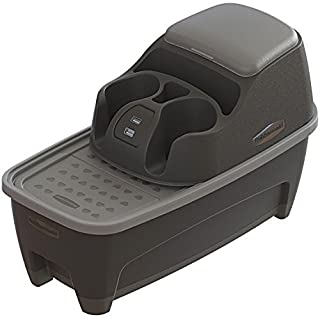 Rubbermaid 3376-00 Automotive Portable Console Organizer Caddy with Storage Combo, Dual USB Charging Ports and Cup Holders