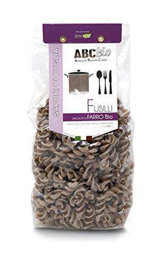Carioni Food & Health Pasta Italiana Fusilli con harina de Farro ecológica - 500 gr (Paquete de 10 Piezas)