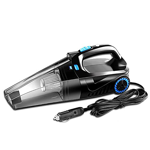 duoying Car Vacuum Cleaner, Multiple filtering vacuum Tire pressure Lighting all-in-one Portable Lightweight Wet Dry Handheld Vacuum Cleaner for Car