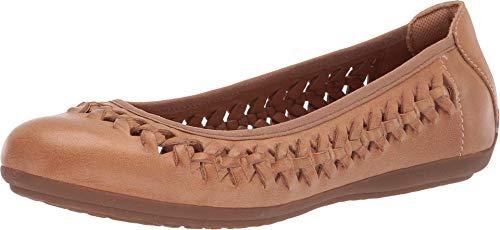 Comfortiva Women's Marilu Caramel Leatherflats-Shoes 9 C/D US