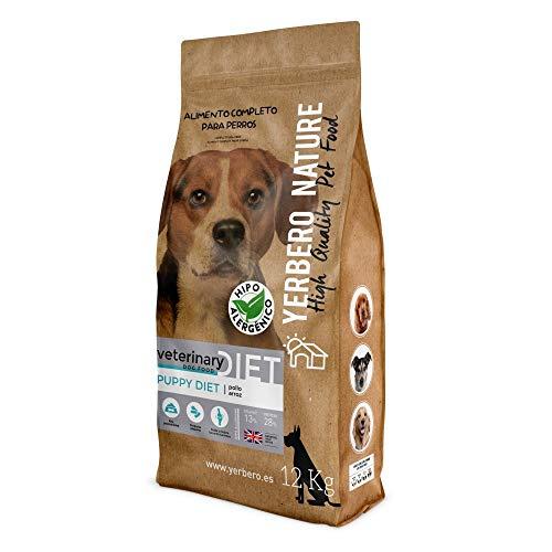 YERBERO Nature Puppy Diet Pollo y arroz, Comida Hipoalergénica para cachorros12kg
