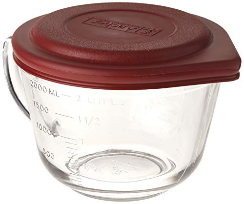 2 Qt Glass Batter Bowl with Lid