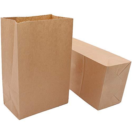 50 Stück Prima Qualität Papiertüten 15 x 27x 9cm, Geschenktüten, Tüten aus braunem Papier Für Keks und zum Basteln, Sackerl als Verpackung Geschenke für einen Advetkalender (60 Rindsleder Sticker
