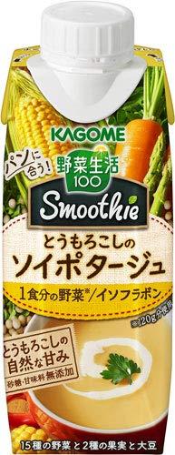 カゴメ 野菜生活100 スムージー とうもろこしの ソイ ポタージュ 250ml 紙パック 36本 (12本入×3 まとめ買い)