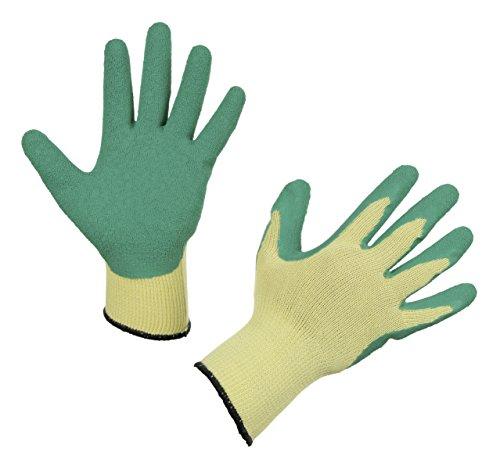 Kerbl 297602 Handschuh EasyGrip Größe 8/M, grün, Strickhandschuh in Latex