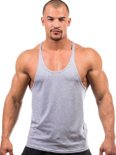 Iwearit Y-Back Muscle Tanktop S-Grey Made in USA