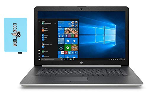 HP 17-by3053cl Home and Business Laptop (Intel i5-1035G1 4-Core, 32GB RAM, 2TB PCIe SSD + 2TB HDD, Intel UHD Graphics, 17.3' Full HD (1920x1080), WiFi, Bluetooth, Webcam, Win 10 Pro) with Hub