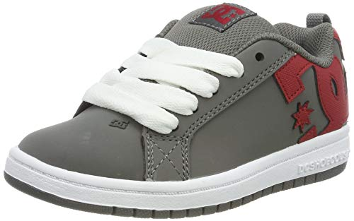 DC Shoes Jungen Court Graffik - Shoes for Boys Skateboardschuhe, Mehrfarbig Grey Red Grf, 29 EU