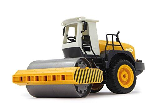 RC Spielzeug kaufen Spielzeug Bild 1: Jamara 410011 - Straßenwalze 1:20 m. Rüttelfunktion 2,4G - Vibrationsmotor in der Walze, realistischer Motorsound, Hupe, Rückfahrwarnsound Blinker, Licht vorne / hinten, profilierte Gummireifen*