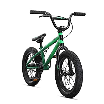 Mongoose Legion Freestyle Sidewalk BMX Bike for-Kids, -Children and Beginner-Level to Advanced Riders, 16-20-inch Wheels, Hi-Ten Steel Frame, Micro Drive 25x9T BMX Gearing