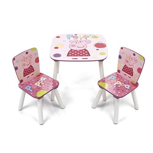 Arditex–008377–Set Tisch und 2Stühle aus Holz–Peppa Pig–Das Schwein