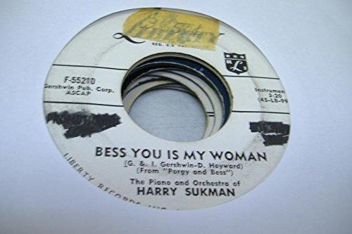 THE PIANO AND ORCHESTRA OF HARRY SUKMAN 45 RPM Bess You Is My Woman / Crimson Kimono