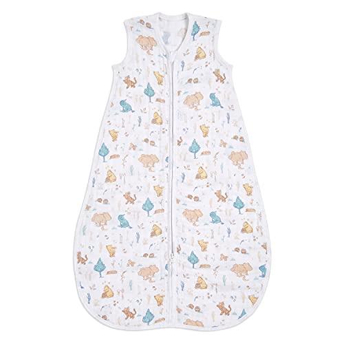 aden + anais™ 100% Leichter Baumwoll-Musselin-Schlafsack 1,0 TOG Disney Baby - Winnie in The Woods (18-36 Monate)