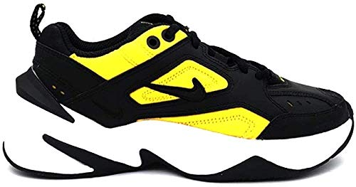 Nike W M2k Tekno, Chaussures de Trail Femme, Multicolore (Black/Black-University Gold-White 014), 37.5 EU
