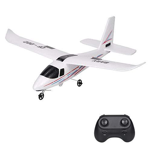 Leeofty Avión RC 2.4GHz 2CH Avión pequeño DIY Juguetes de Vuelo para niños Niños