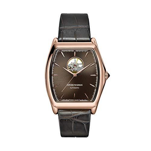 Emporio Armani Herren Analog Automatik Uhr mit Alligator Armband ARS3355