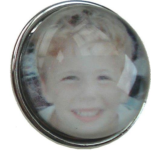 Quiges Damen Click Button 18mm Personalisiert Foto Chunk mit eigenem Bild für Druckknopf Zubehör