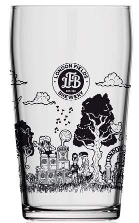 London Fields Brewery 20 oz, pinta, 568 ml, vaso de cerveza