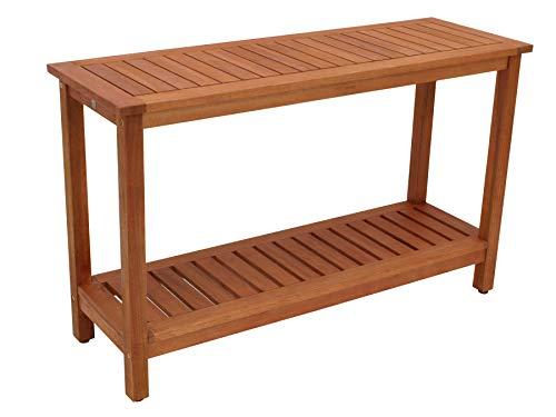 DEGAMO Konsolentisch Cabinet 122x41cm, Eukaylptusholz