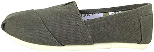 Dooxii Unisex Hombre Mujer Ocasionales Loafer Zapatos Moda Color Sólido Planos Alpargatas Verde 38(24cm)