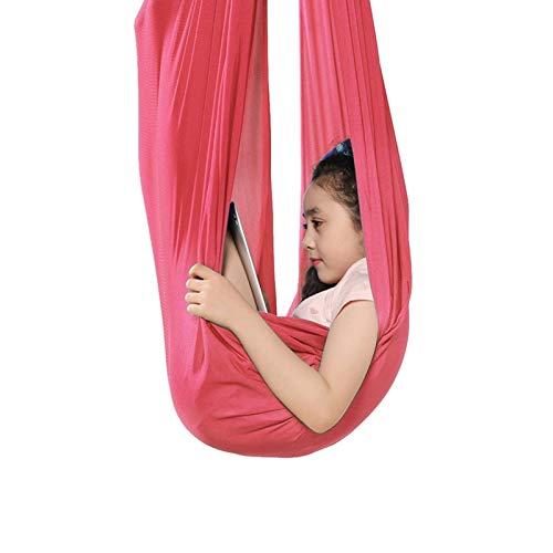 ZCXBHD - Amaca da appendere, per attività di terapia fisica, per bambini, con autismo, ADHD, ideale per l'integrazione sensoriale (colore rosa, dimensioni: 150 x 280 cm)