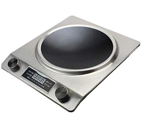Cuisinière à induction Portable Électrique Plaque De Cuisson Plaque Chaude Affichage Numérique Bouton Contrôle De La Température Réglage Convient for La Maison Ustensiles De Cuisine (Color : Silver)