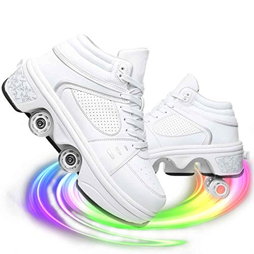 Pinkskattings@ Recargable Unisex Led Luz Automática De Skate Zapatillas con Ruedas Zapatos Patines Deportes Zapatos para Niños Niñas