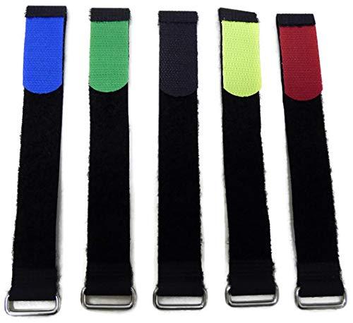 10 x Klettkabelbinder 40 mm Breit 80 cm Lang mit Metallöse - Klett/Flausch auf der gleichen Seite Wählbar verschiedene Farben Kabelmanagement für Gewerbe, Büro, Schreibtisch, Hobby (Grün)