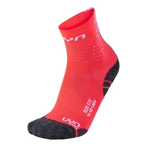 UYN Damen Lady Run FIT Socks Strumpf, Coral Fluo/White, 41/42