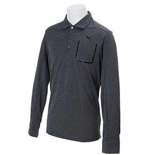 Puma Golf Lux Blend LS Polo Shirt Dry Cell Tech Herren Longsleeve , Farbe:Grau;Bekleidungsgröße:M