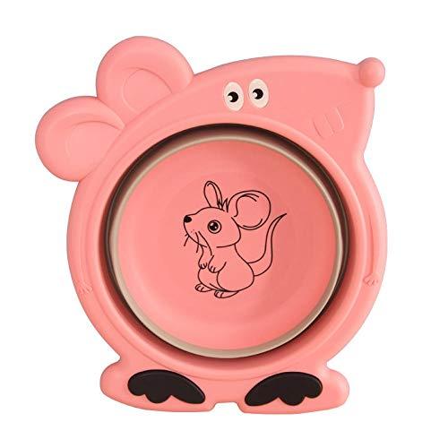Alberta Faltbare Baby Waschbecken Haus Cartoon Kinder Badewanne hochwertigen tragbare Teleskop-rosa Farbe (Color : Pink Color)