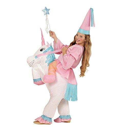 NET TOYS Aufblasbares Einhorn Kostüm Pferdekostüm Kind Kinderkostüm Pferd Elfenkostüm Mädchen Kinder Feenkostüm Märchen Verkleidung