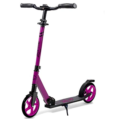 "Lascoota Scooters for Kids 8 Years and up - Quick-Release Folding System - Front Suspension System + Scooter Shoulder Strap 7.9"" Big Wheels Great Scooters for Adults and Teens (Plum, Kids/Adults)"