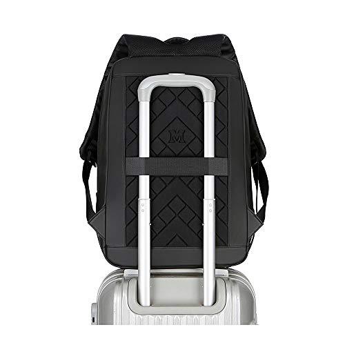 LYHLYH College-tas, rugzak voor laptop met 15,6 inch, waterdicht, krasbestendig, diefstalbeveiliging buitenshuis, voor vrije tijd, buiten, USB-oplaadinterface