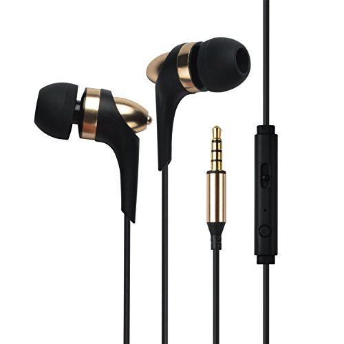 Francois et Mimi in-Ear 3.5mm Aux Hi-Fidelity Headphones Earbuds CH-08, Gold